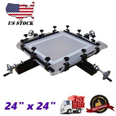 Usa High Precise 24 X 24 Manual Screen Stretching Machine Screen Printing