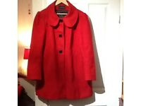 LOVELY RED WINTER COAT SIZE 22/24.