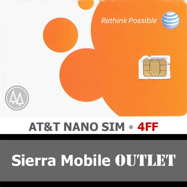 AT&T NANO SIM Card 4FF • GSM 4GLTE • NEW Genuine OEM Pre