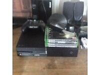Xbox one with headphones 4 games control