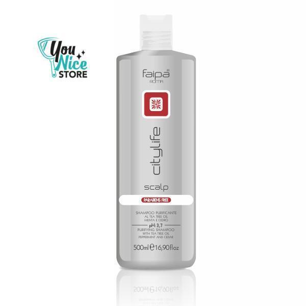 Shampoo capelli Purificante detergente anti forfora menta Faipa Scalp 500 ml