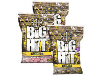 Crafty Catcher. Big Hit 15mm Boilies 1Kg Bag with free Pop Ups. Various Flavours. Carp Fishing Bait.