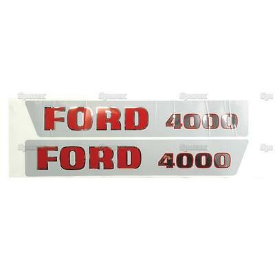 Ford 4000 1965-1968 3-cyl Tractor Basic Hood Decal Set