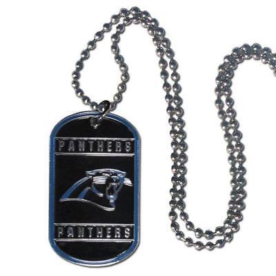 Carolina Panthers Tag Style Necklace [NEW] NFL Jewelry Chain Choker Dog Dogtag - Carolina Panthers Jewelry