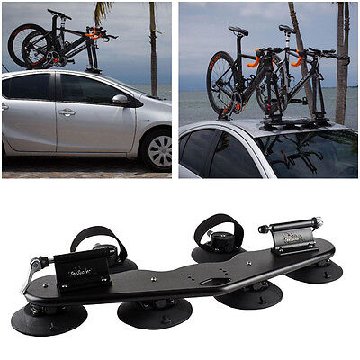 Heavy Duty 2-Bike Fork Mount Roof Car Rack Bicycle Carrier Rear Wheel Straps GLO