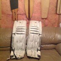 Vaughn V5 vertical stitch goalie pads 36+1 $375