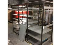 Commercial heavy duty shelving 8ft tall X 3ft deep X 9ft wide
