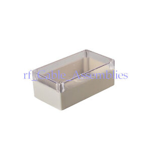 2x Waterproof Clear Cover Plastic Electronic Project Box