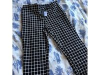 Black and White Smart Work Trousers