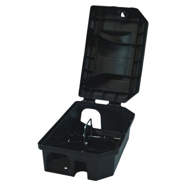 1 X PROFESSIONAL RODENT BAIT STATION BOX TRAP & 15 Bait