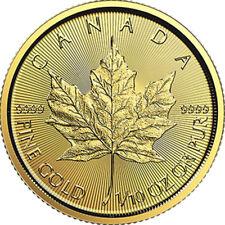 1/10 oz Gold Coin RCM - 2018 .9999 Gold Maple Leaf - Royal Canadian Mint
