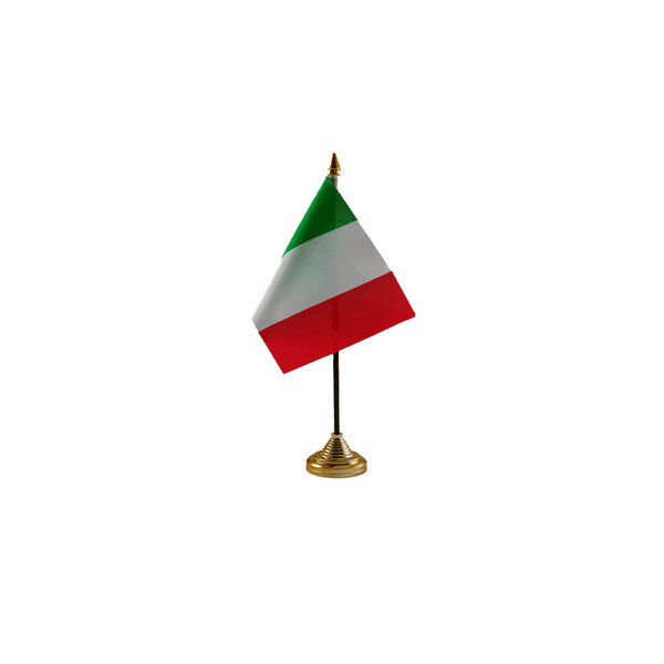 Italy Table Desk Flag - 10 x 15 cm National Country Hand Europe