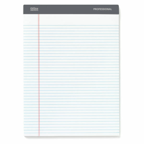 Office Depot Professional Legal Pad, Narrow Ruled, 100 Sheets 4-Pack