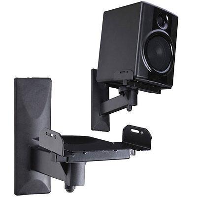 VideoSecu One Pair of Side Clamping Bookshelf Speaker Mounti