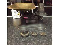 Heavy Vintage Cast Iron Kitchen Scales