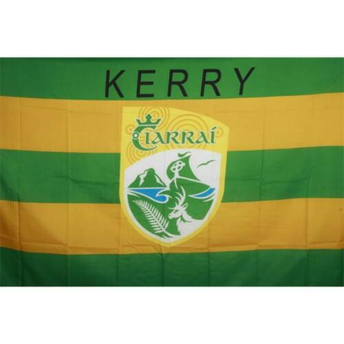 Kerry GAA Official 5 x 3 FT Flag - Large Crested Irish Gaelic Football Hurling