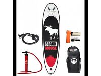 BRAND NEW WildSUP! Inflatable Sup board Black Moose 10,6′ for SALE! Stand up paddle board!
