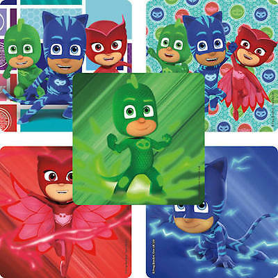 Mask Party Favors (25 PJ Masks Stickers Party Favors Teacher Supply - Amaya - Connor - Greg)