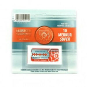 Classic Double Edge Shaving Razor Blades, Merkur, Derby, Feather