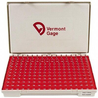 Vermont Gage 185 Piece 1.31-4.99 Mm Diameter Plug And Pin Gage Set Minus 0.0...