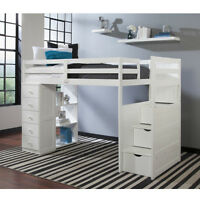 Youth STORAGE Super Space Saver Pine LOFT and BUNK Bed