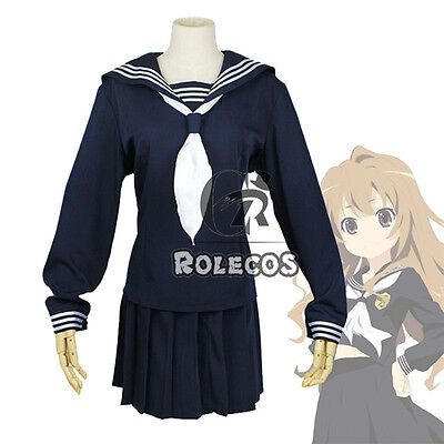 Tiger×Dragon Aisaka Taiga Japanese School Girl Sailor Uniform Cosplay Costume (Dragon Girl Kostüme)