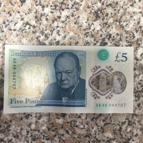 AK 46 new five pound note for sale