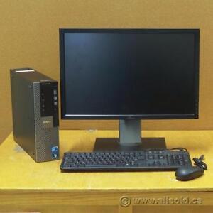 """Dell Optiplex Windows 7 PC + Dell 22"""" Widescreen Monitor Bundle"""