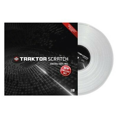 New Native Instruments Traktor Scratch Control Timecode Vinyl MK2 Clear SINGLE