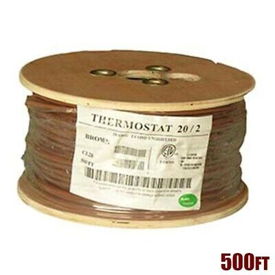 500ft 202 Unshielded Cmr Heating Air Conditioning Hvac Ac Thermostat Cable Wire