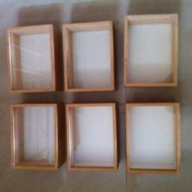 6 Ikea boxes with glass Fronts