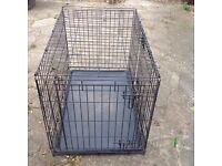 Medium dog crate or cage, folding