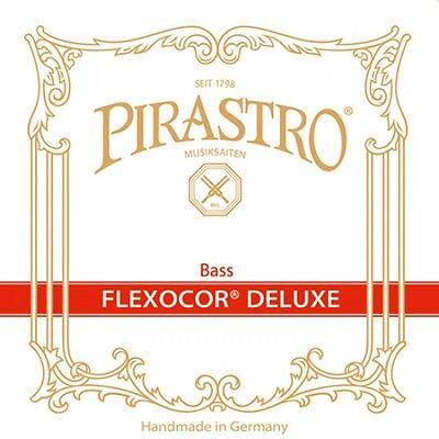 Pirastro FLEXOCOR DELUXE Kontrabass Saiten SATZ, Double Bass Strings SET, mittel