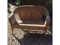 Wicker double seat ideal for conservatory £10
