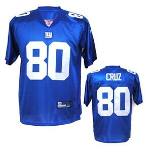 New York Giants Victor Cruz #80 Home Jersey Size Large