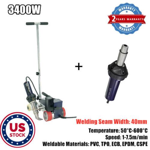 US Stock 3400W Hot Air Roofer Welder PVC Banner Welding with 40mm Welding Nozzle