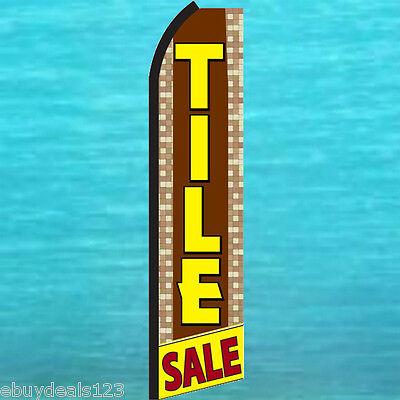 Tile Sale Swooper Flag Flutter Feather Tall Advertising Sign Banner 25-3020