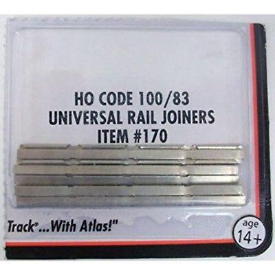 Atlas 170 HO Scale Code 100 Rail Joiners Nickel / Silver (Code 100 Rail Joiners)