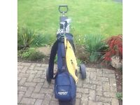 Golf Clubs and bag and trolley