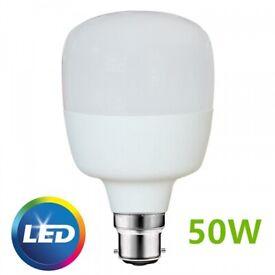 High Brightness 50W LED Bulb Light B22 BC Fitting Daylight Cool White Retrofit