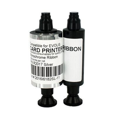Silver Monochrome Resin - R2017 Silver Ribbon for Evolis Card Printer Resin Monochrome 1000 Prints