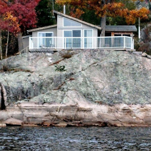 Cottage for  Rent, includes pontoon boat