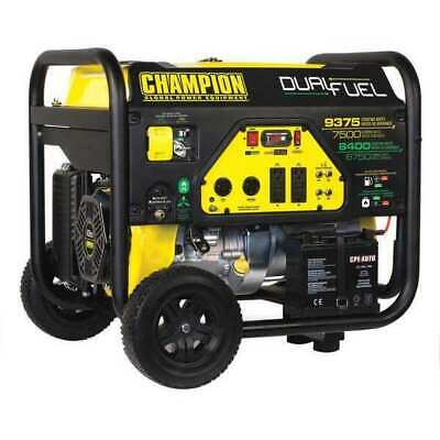 Champion Power Equipment 100165 7500w Dual Fuel Portable Generator 120240v