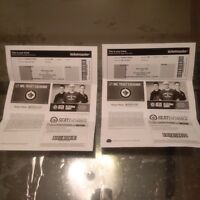 2 tickets to Jets Vs Leafs