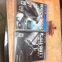 Jeux PS3 Watchdogs+Black Ops 2