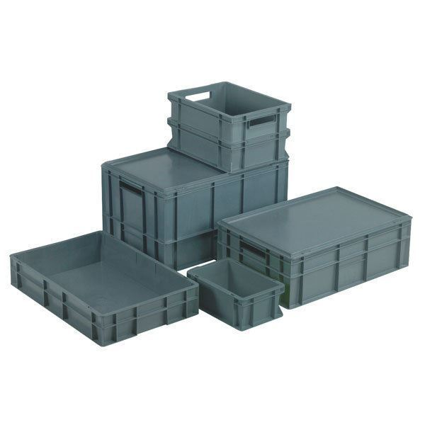 Topstore Euro Container - Full Sided Grey - 600 x 400 x 320mm