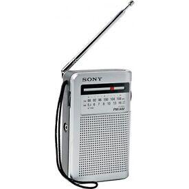 Sony ICF -S22 FM/AM portable radio