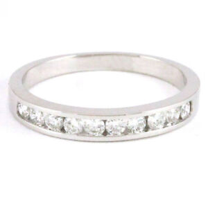 14k White Gold diamond band (10 diamonds, 0.33ct tdw) #3138