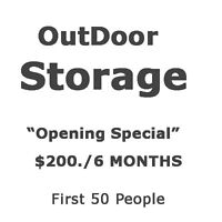OUTDOOR STORAGE - $ 200. for 6 months.