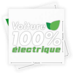 Stickers for electric cars